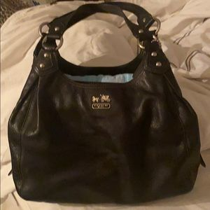 AUTHENTIC ALL BLACK LEATHER Coach purse